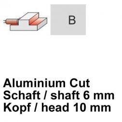 CP Fräser Aluminium Cut Zylinderform mit Stirnverzahnung Ø 6 / 10 mm