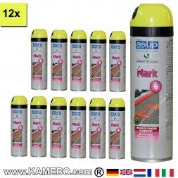 Baustellenmarkierungsspray Gelb 500 ml 12 Stück