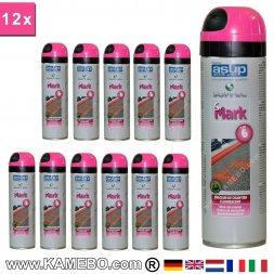 Baustellenmarkierungsspray Rot 500 ml 12 Stück