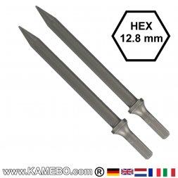 GISON Spitzmeißel / Spitzeisen HEX 12,8 mm 2 Stück
