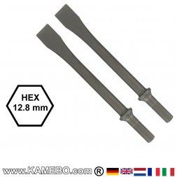 GISON Flachmeißel HEX 12,8 mm 2 Stück