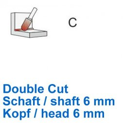 CP Fräser Double Cut Walzenrundform Ø 6 / 6 mm