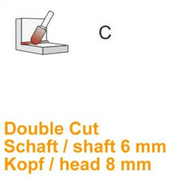CP Fräser Double Cut Walzenrundform Ø 6 / 8 mm