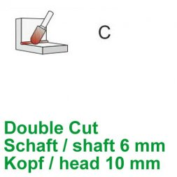 CP Fräser Double Cut Walzenrundform Ø 6 / 10 mm