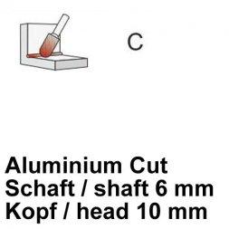 CP Fräser Aluminium Cut Walzenrundform Ø 6 / 10 mm