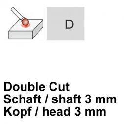 CP Fräser Double Cut Kugelform Ø 3 / 3 mm