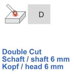 CP Fräser Double Cut Kugelform Ø 6 / 6 mm