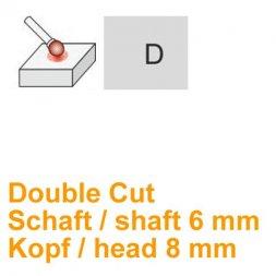 CP Double Cut Fräser Kugelform Ø 6 / 8 mm
