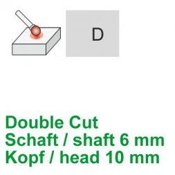 CP Double Cut Fräser Kugelform Ø 6 / 10 mm
