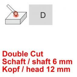 CP Double Cut Fräser Kugelform Ø 6 / 12 mm