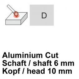 CP Aluminium Cut Fräser Kugelform Ø 6 / 10 mm