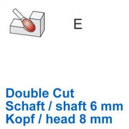 CP Double Cut Fräser Tropfenform / oval Ø 6 / 8 mm