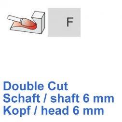 CP Double Cut Fräser Rundbogenform Ø 6 / 6 mm