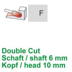 CP Double Cut Fräser Rundbogenform Ø 6 / 10 mm