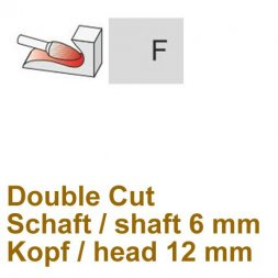 CP Double Cut Fräser Rundbogenform Ø 6 / 12 mm