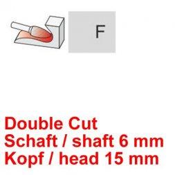 CP Double Cut Fräser Rundbogenform Ø 6 / 15 mm