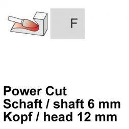 CP Power Cut Fräser Rundbogenform Ø 6 / 12 mm
