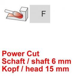 CP Power Cut Fräser Rundbogenform Ø 6 / 15 mm