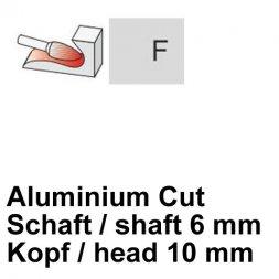 CP Aluminium Cut Fräser Rundbogenform Ø 6 / 10 mm