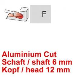 CP Aluminium Cut Fräser Rundbogenform Ø 6 / 12 mm