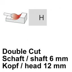 CP Double Cut Fräser Flammenform Ø 6 / 12 mm