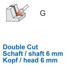 CP Double Cut Fräser Spitzbogenform Ø 6 / 6 mm