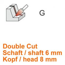 CP Double Cut Fräser Spitzbogenform Ø 6 / 8 mm