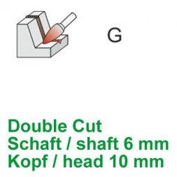 CP Double Cut Fräser Spitzbogenform Ø 6 / 10 mm
