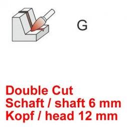CP Double Cut Fräser Spitzbogenform Ø 6 / 12 mm