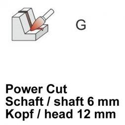 CP Power Cut Fräser Spitzbogenform Ø 6 / 12 mm