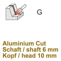 CP Aluminium Cut Fräser Spitzbogenform Ø 6 / 10 mm