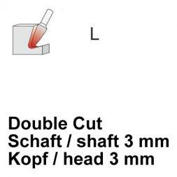 CP Double Cut Fräser Rundkegelform Ø 3 / 3 mm