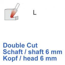 CP Double Cut Fräser Rundkegelform Ø 6 / 6 mm