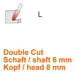 CP Double Cut Fräser Rundkegelform Ø 6 / 8 mm