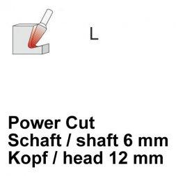 CP Power Cut Fräser Rundkegelform Ø 6 / 12 mm