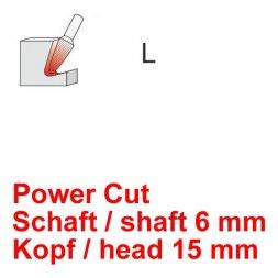 CP Power Cut Fräser Rundkegelform Ø 6 / 15 mm