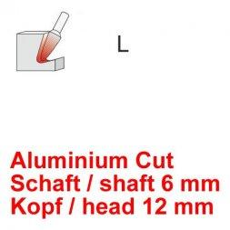 CP Aluminium Cut Fräser Rundkegelform Ø 6 / 12 mm