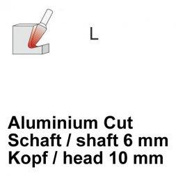 CP Aluminium Cut Fräser Rundkegelform Ø 6 / 10 mm