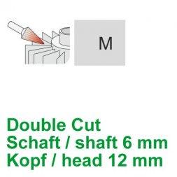 CP Aluminium Cut Fräser Spitzkegelform Ø 6 / 12 mm