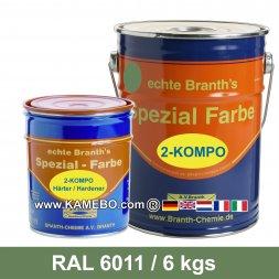 BRANTHO-KORRUX 2-KOMPO Rostschutzlack RAL 6011 Lindgrün 6 kg