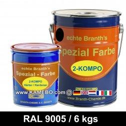 BRANTHO-KORRUX 2-KOMPO Rostschutzlack RAL 9005 Schwarz 6 kg