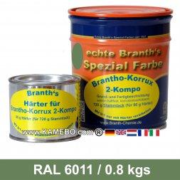 BRANTHO-KORRUX 2-KOMPO Rostschutzlack RAL 6011 Lindgrün 0,8 kg