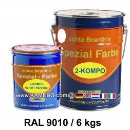BRANTHO-KORRUX 2-KOMPO Rostschutzlack RAL 9010 Weiss 6 kg