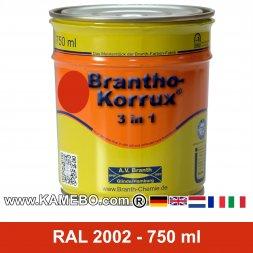 BRANTHO-KORRUX 3in1 Rostschutzlack RAL 2002 Blutorange 750 ml