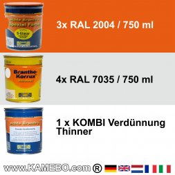 BRANTHO-KORRUX NITROFEST RAL 7035 S-GLASUR RAL 2004 Kit 1