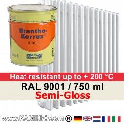 Heizkörperlack Seidenglänzend RAL 9001 Cremeweiß 750 ml