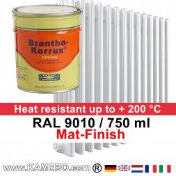 Heizkörperlack Matt RAL 9010 Weiß 750 ml