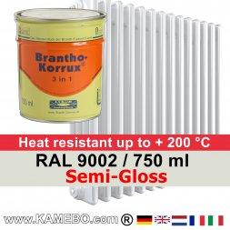 Heizkörperlack Seidenglänzend RAL 9002 Grauweiß 750 ml
