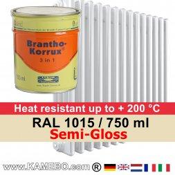 Heizkörperlack Seidenglänzend RAL 1015 Hellelfenbein 750 ml