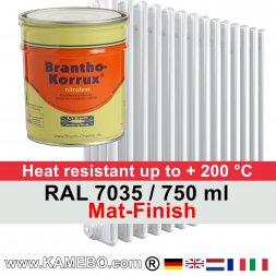 Heizkörperlack Matt RAL 7035 Lichtgrau 750 ml